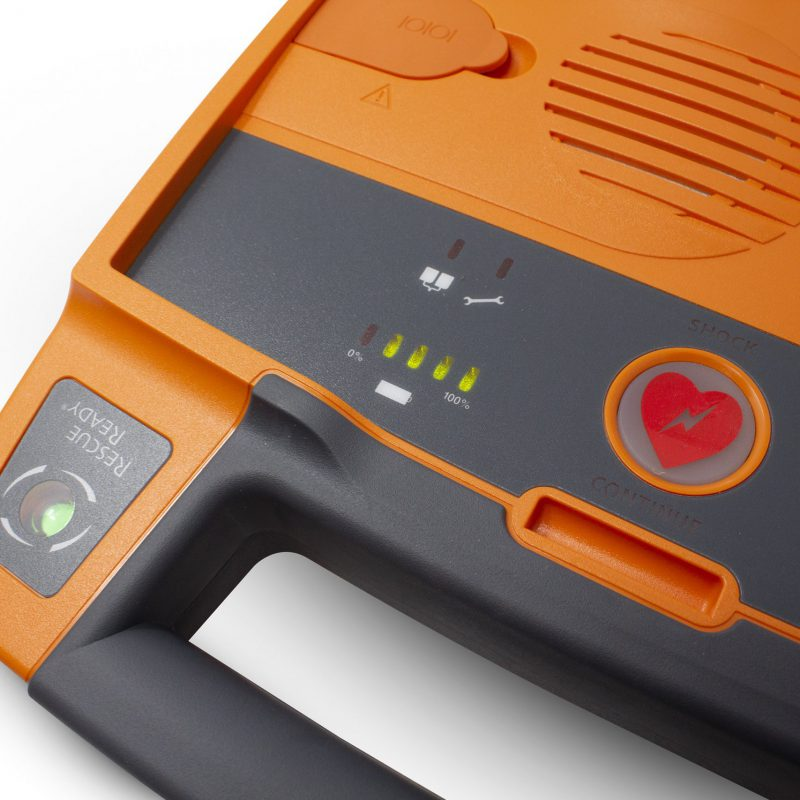 Powerheart G3 Elite_Semi Auto_Full Battery Indicator Close Up_LR
